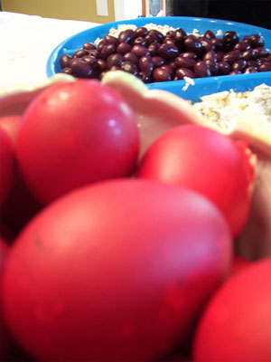 Greaster Red Dyed Eggs