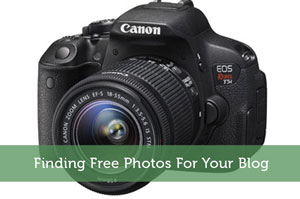 Finding Free Photos For Your Blog