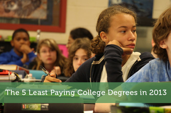 The 5 Least Paying College Degrees in 2013