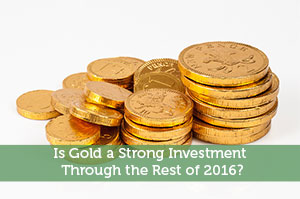 Is Gold a Strong Investment Through the Rest of 2016?