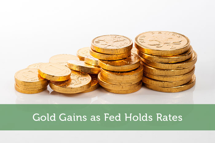 Gold Gains as Fed Holds Rates