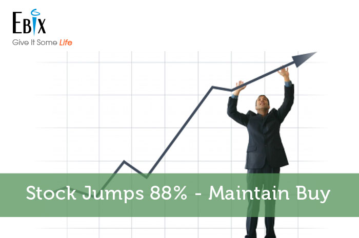 Stock Jumps 88% - Maintain Buy
