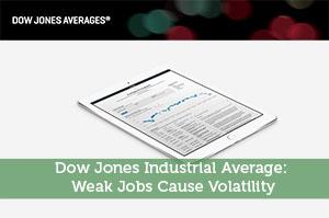 Dow Jones Industrial Average: Weak Jobs Cause Volatility