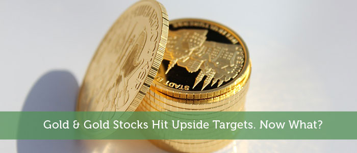 Gold & Gold Stocks Hit Upside Targets. Now What?
