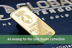 An Analog for the Gold Stocks Correction
