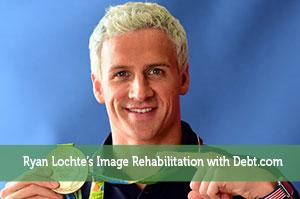 Ryan Lochte's Image Rehabilitation with Debt.com