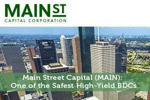 Main Street Capital (MAIN): One of the Safest High-Yield BDCs