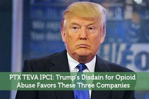 PTX TEVA IPCI: Trump's Disdain for Opioid Abuse Favors These Three Companies