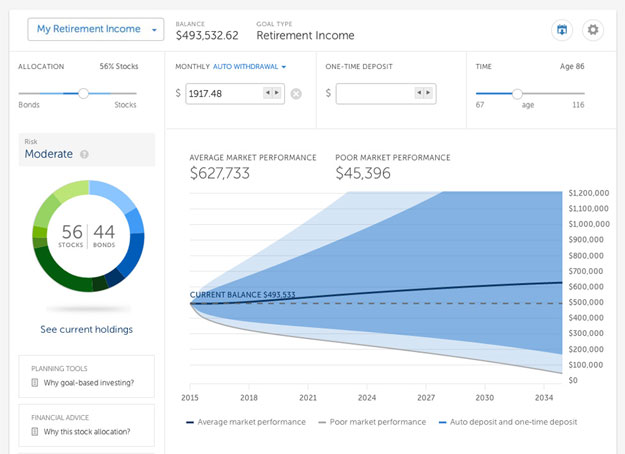 Betterment investing dashboard