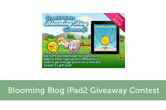 Blooming Blog iPad2 Giveaway Contest