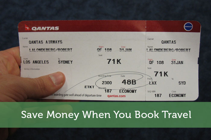 Save Money When You Book Travel