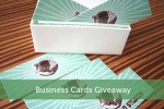 Canvas Print and Business Cards Giveaway