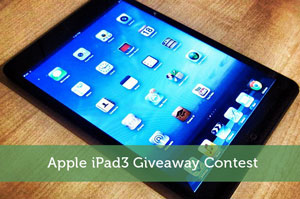 Apple iPad3 Giveaway Contest