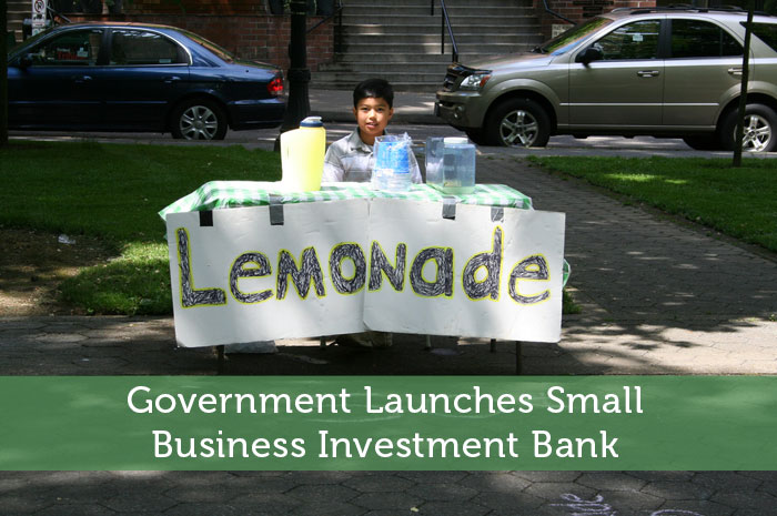 Government Launches Small Business Investment Bank