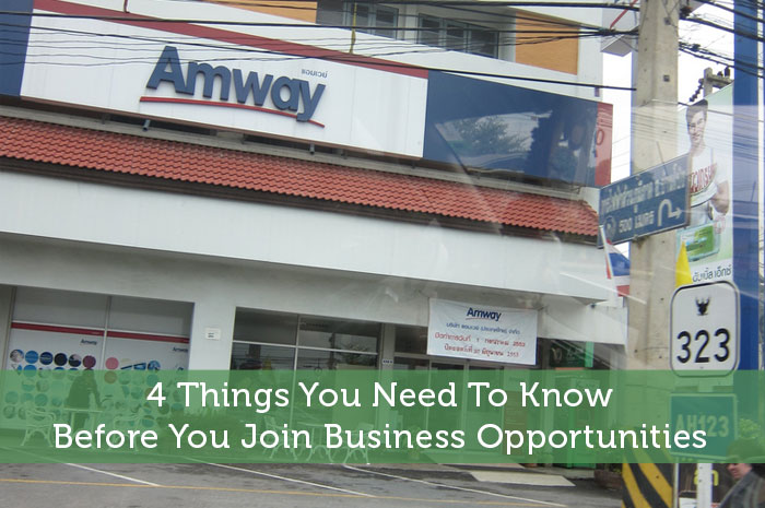4 Things You Need To Know Before You Join Business Opportunities