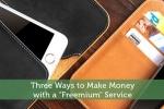 "Three Ways to Make Money with a ""Freemium"" Service"