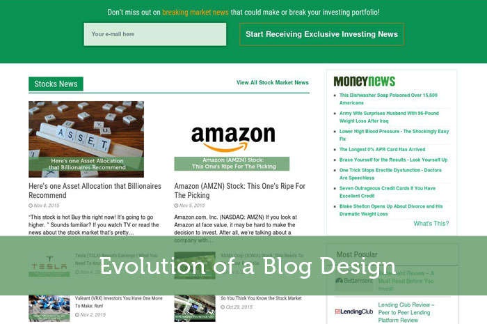 Evolution of a Blog Design