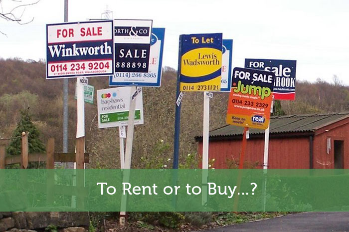 To Rent or to Buy...?