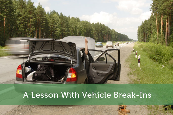 A Lesson With Vehicle Break-Ins