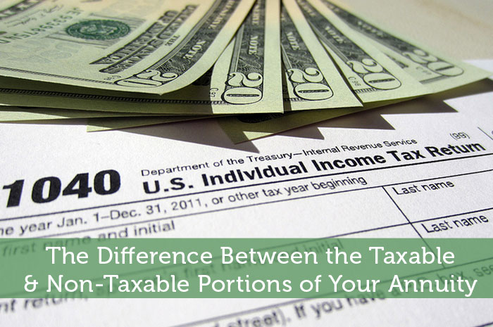 The Difference Between the Taxable & Non-Taxable Portions of Your Annuity