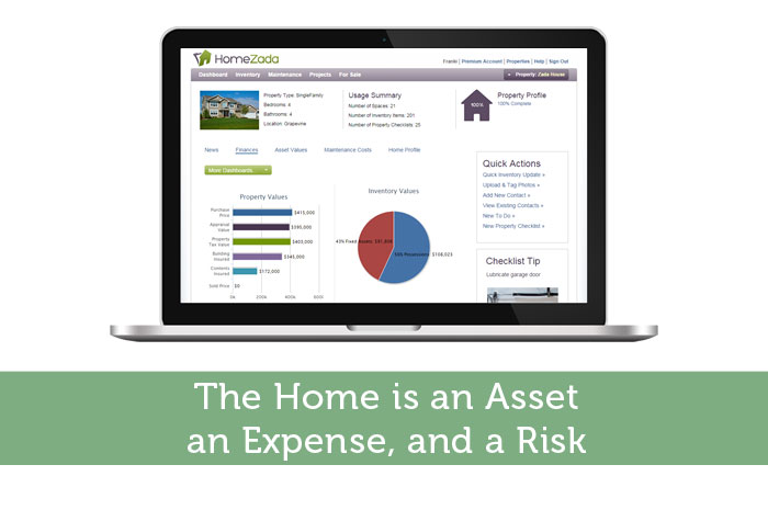 The Home is an Asset, an Expense, and a Risk