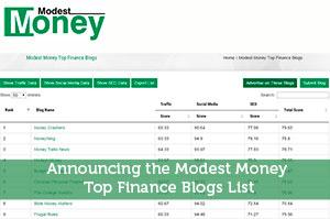 Jeremy Biberdorf-by-Announcing the Modest Money Top Finance Blogs List
