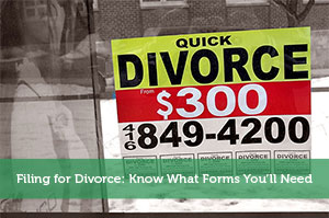 Filing for Divorce: Know What Forms You'll Need