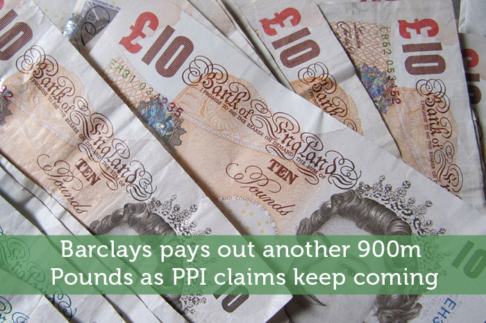 Barclays pays out another 900m Pounds as PPI claims keep coming