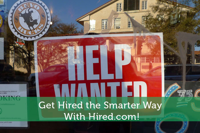 Get Hired the Smarter Way With Hired.com!