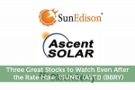 Three Great Stocks to Watch Even After the Rate Hike: (SUNE) (ASTI) (BBRY)