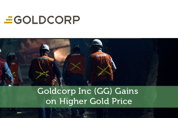 Goldcorp Inc GG Gains on Higher Gold Price