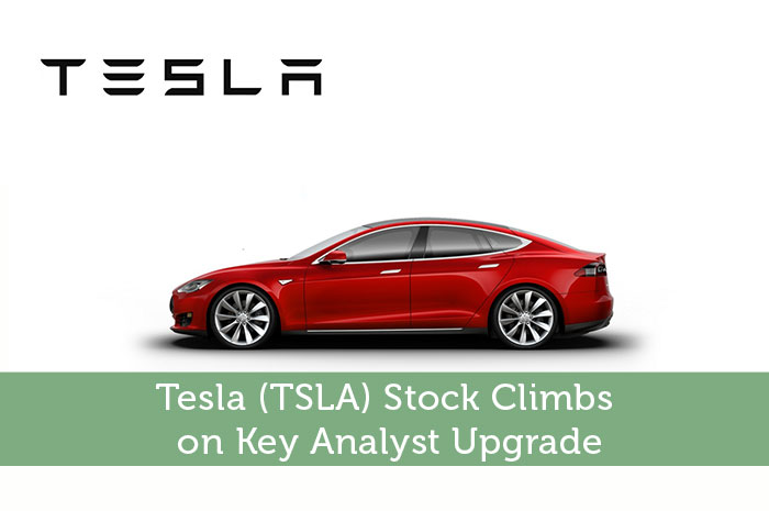 Tesla tsla stock climbs on key analyst upgrade modest for How to buy stock in tesla motors