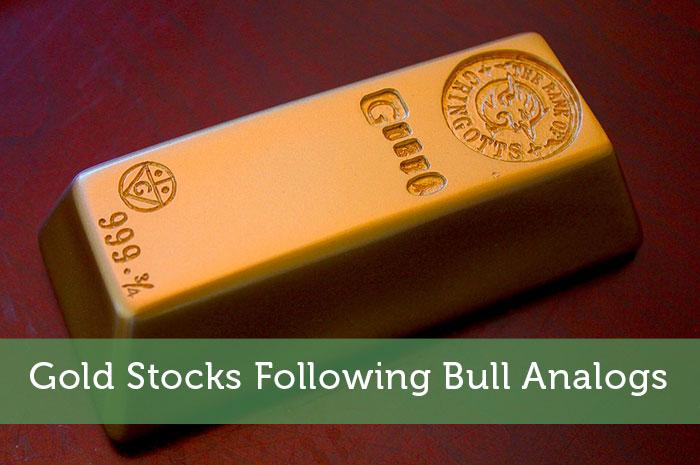 Gold Stocks Following Bull Analogs