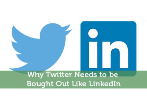 Why Twitter Needs to be Bought Out Like LinkedIn