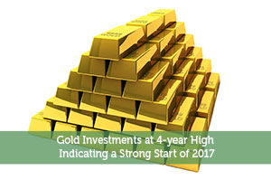 Gold Investments at 4-year High Indicating a Strong Start of 2017