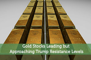 Gold Stocks Leading but Approaching Trump Resistance Levels