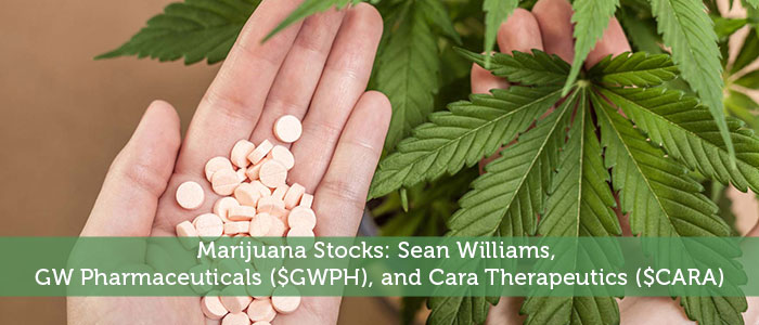 Marijuana Stocks: Sean Williams, GW Pharmaceuticals ($GWPH), and Cara Therapeutics ($CARA)