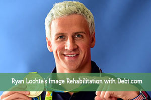 Ryan Lochte's Image Rehabilitation with Debt.com