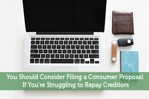 Adam-by-You Should Consider Filing a Consumer Proposal If You're Struggling to Repay Creditors
