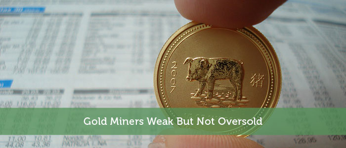 Gold Miners Weak But Not Oversold