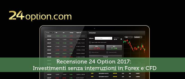 Recensione 24 Option 2017: Investimenti senza interruzioni in Forex e CFD