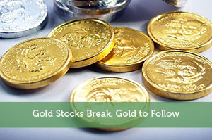 Gold Stocks Break, Gold to Follow