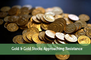 Adam-by-Gold & Gold Stocks Approaching Resistance