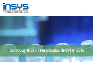 Don't buy INSYS Therapeutics (INSY) in 2018