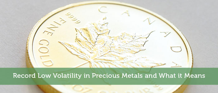 Record Low Volatility in Precious Metals and What it Means