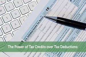 The Power of Tax Credits over Tax Deductions