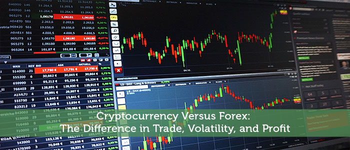 Cryptocurrency Versus Forex: The Difference in Trade, Volatility, and Profit