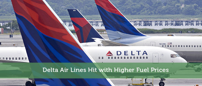 Delta Air Lines Hit with Higher Fuel Prices