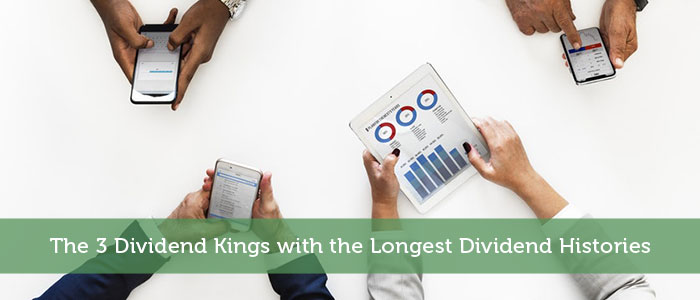 The 3 Dividend Kings with the Longest Dividend Histories