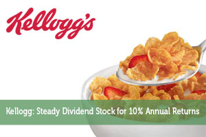 Kellogg: Steady Dividend Stock for 10% Annual Returns